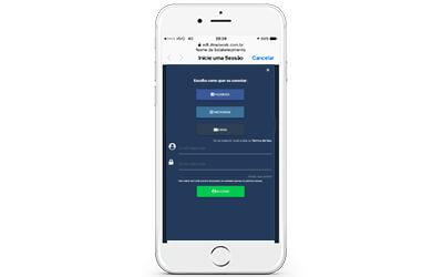 Tela escolhe a rede social para liberar o wi-fi